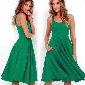 Lulus green midi dress